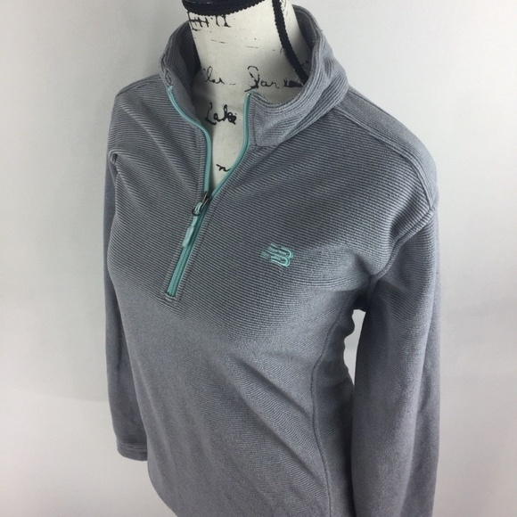 711267f6fc New Balance Women's Zip Up V-Neck Gray Sweatshirt